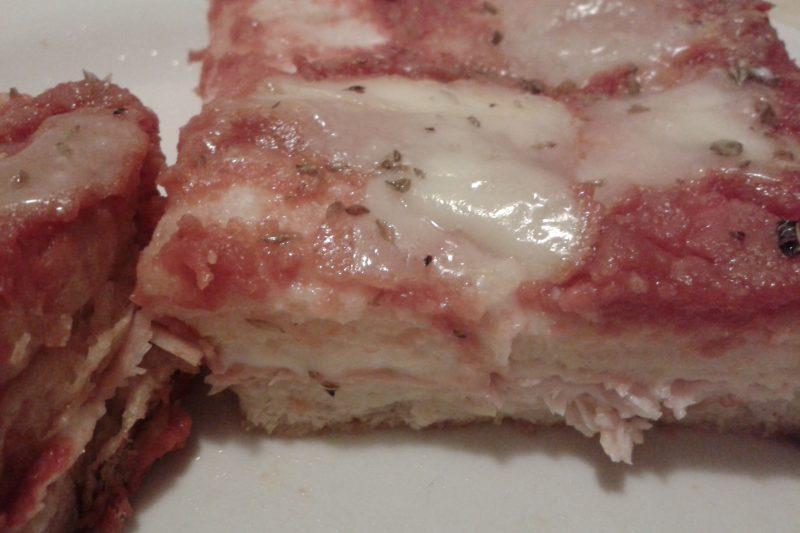 Pizza di pancarré