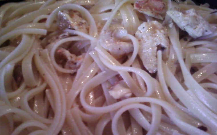 Linguine con filetti di triglia