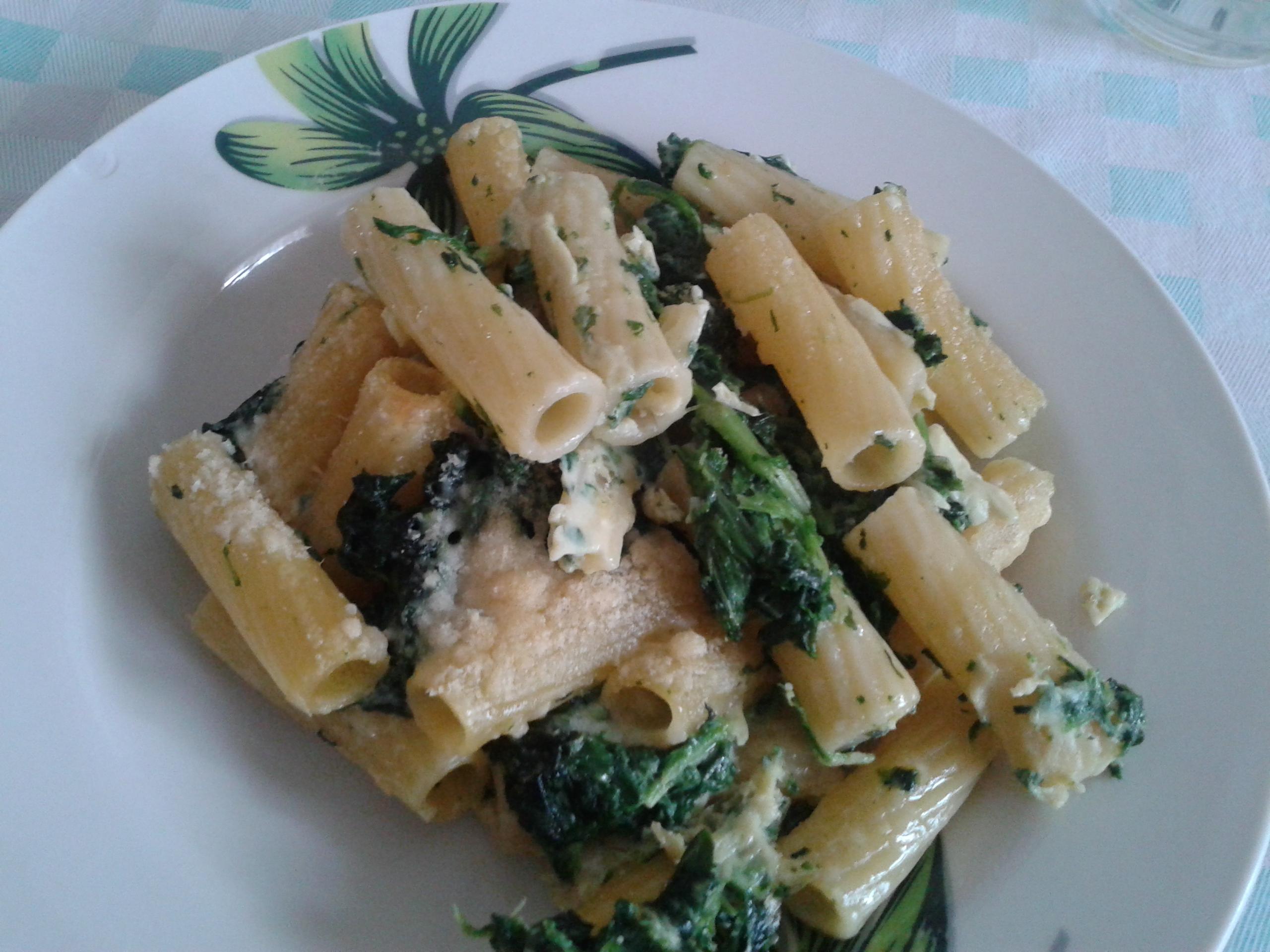 Rigatoni agli spinaci