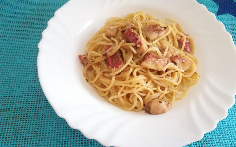 Spaghetti con filetti di triglia