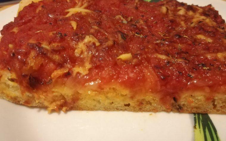Sfincione palermitano – pizza alta in teglia