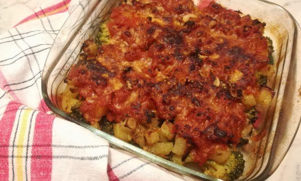 Broccoli e patate gratinati al forno