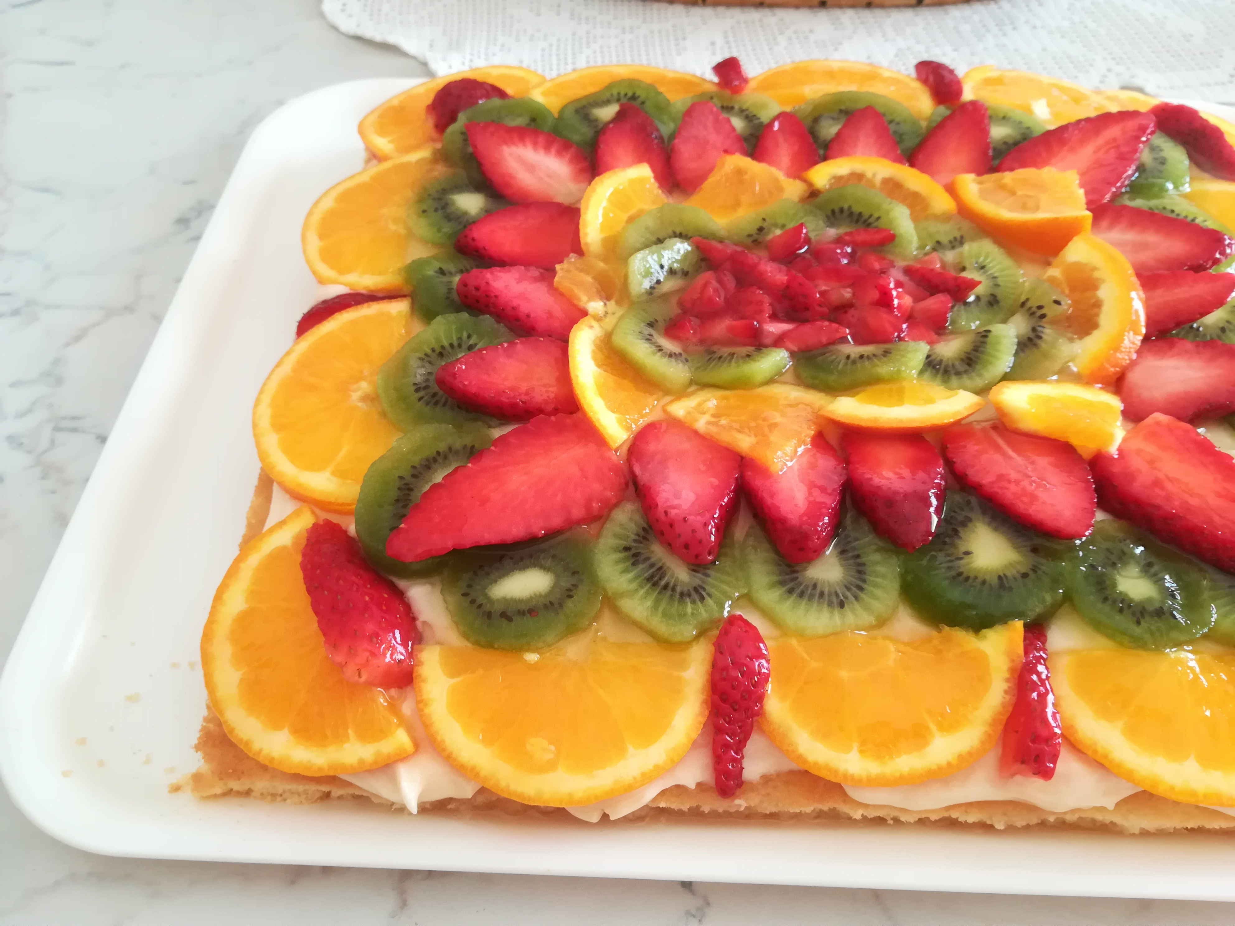 Torta di frutta, perfetta come torta di compleanno