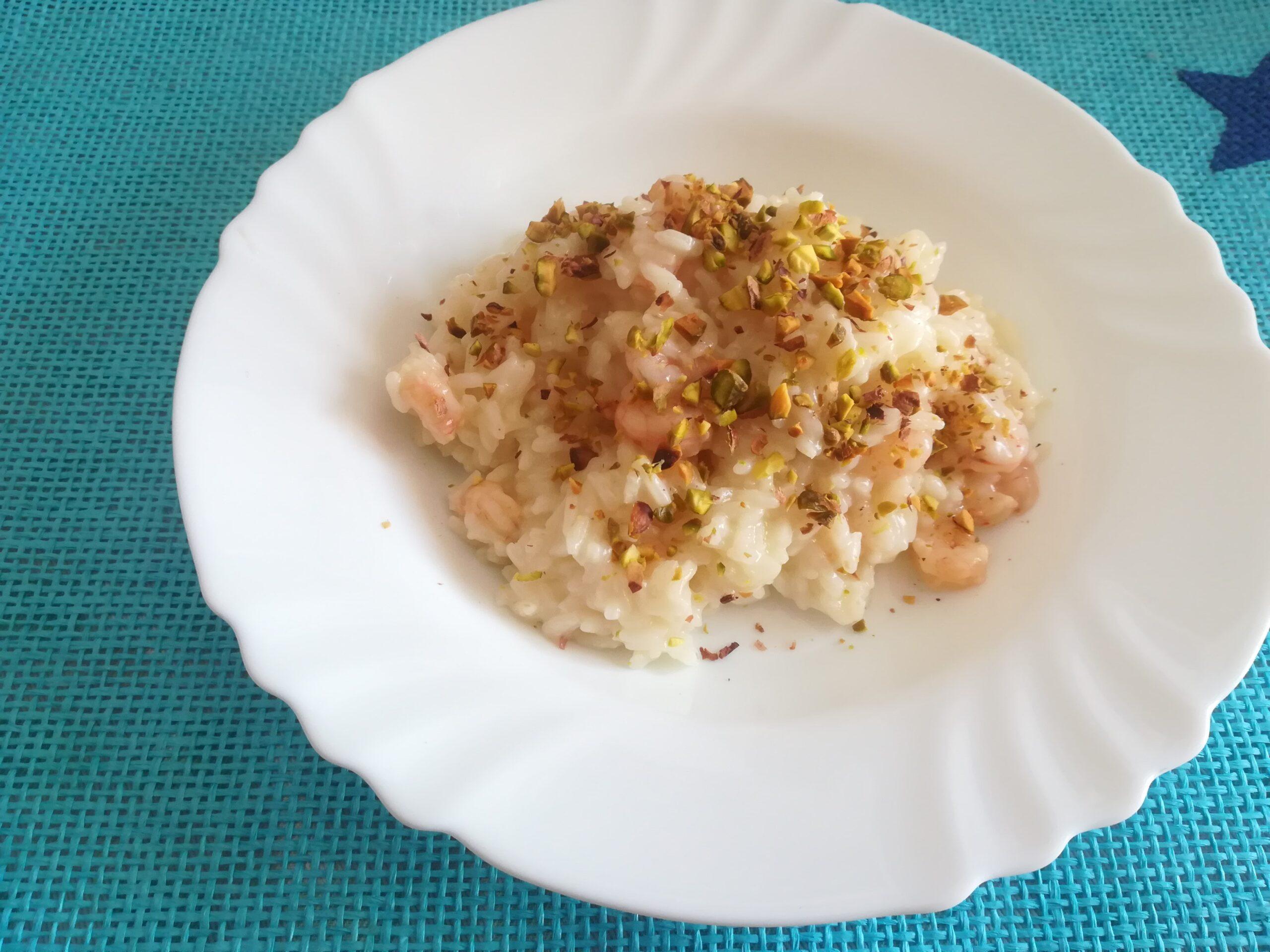 Risotto con gamberetti e pistacchio