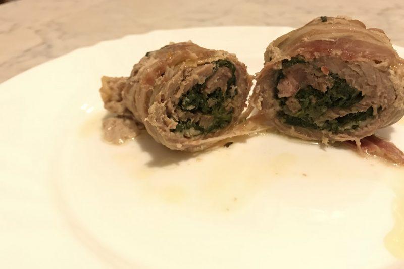 Involtini di manzo con spinaci e mozzarella