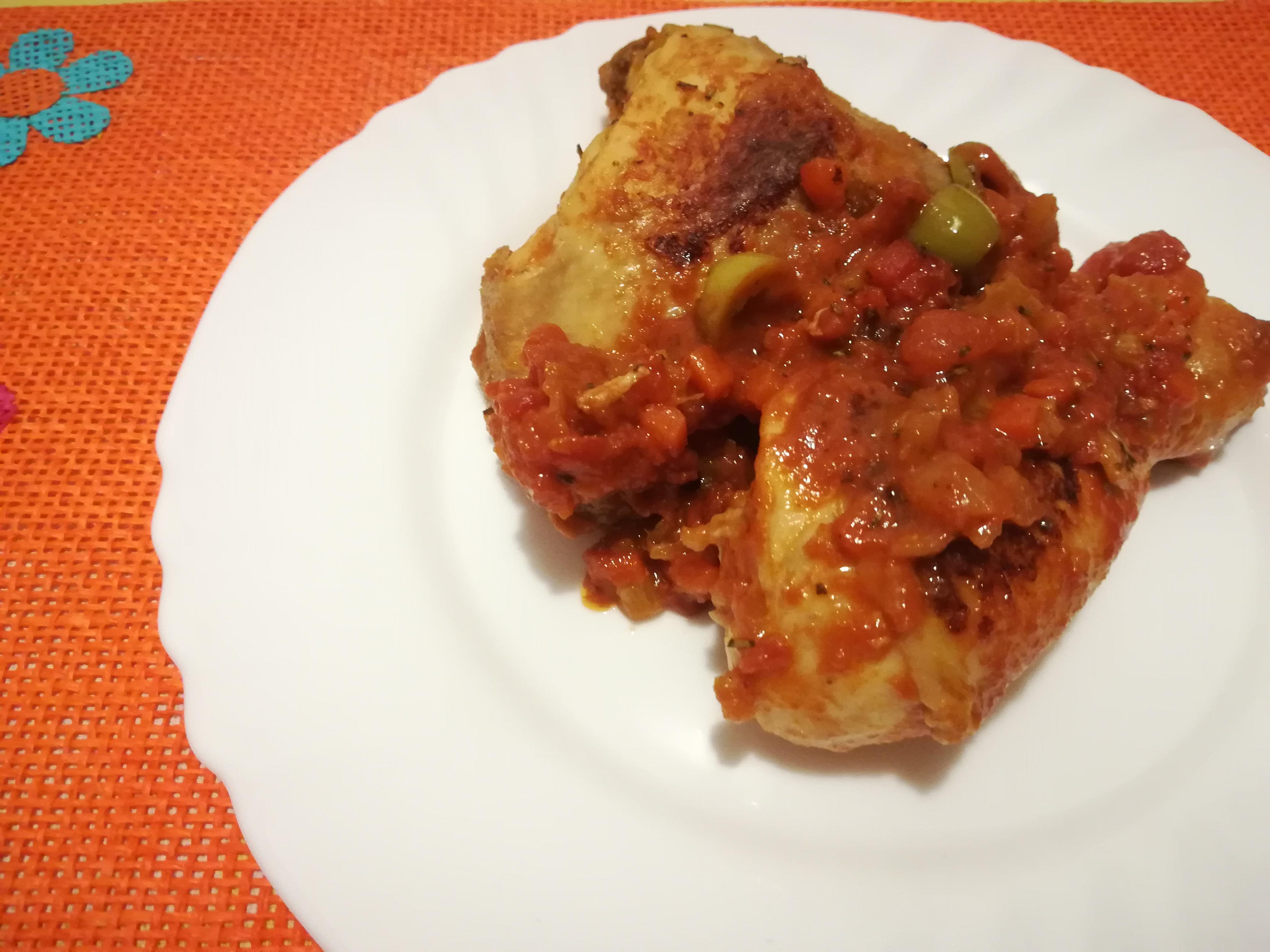 Cosce di pollo in umido alle olive