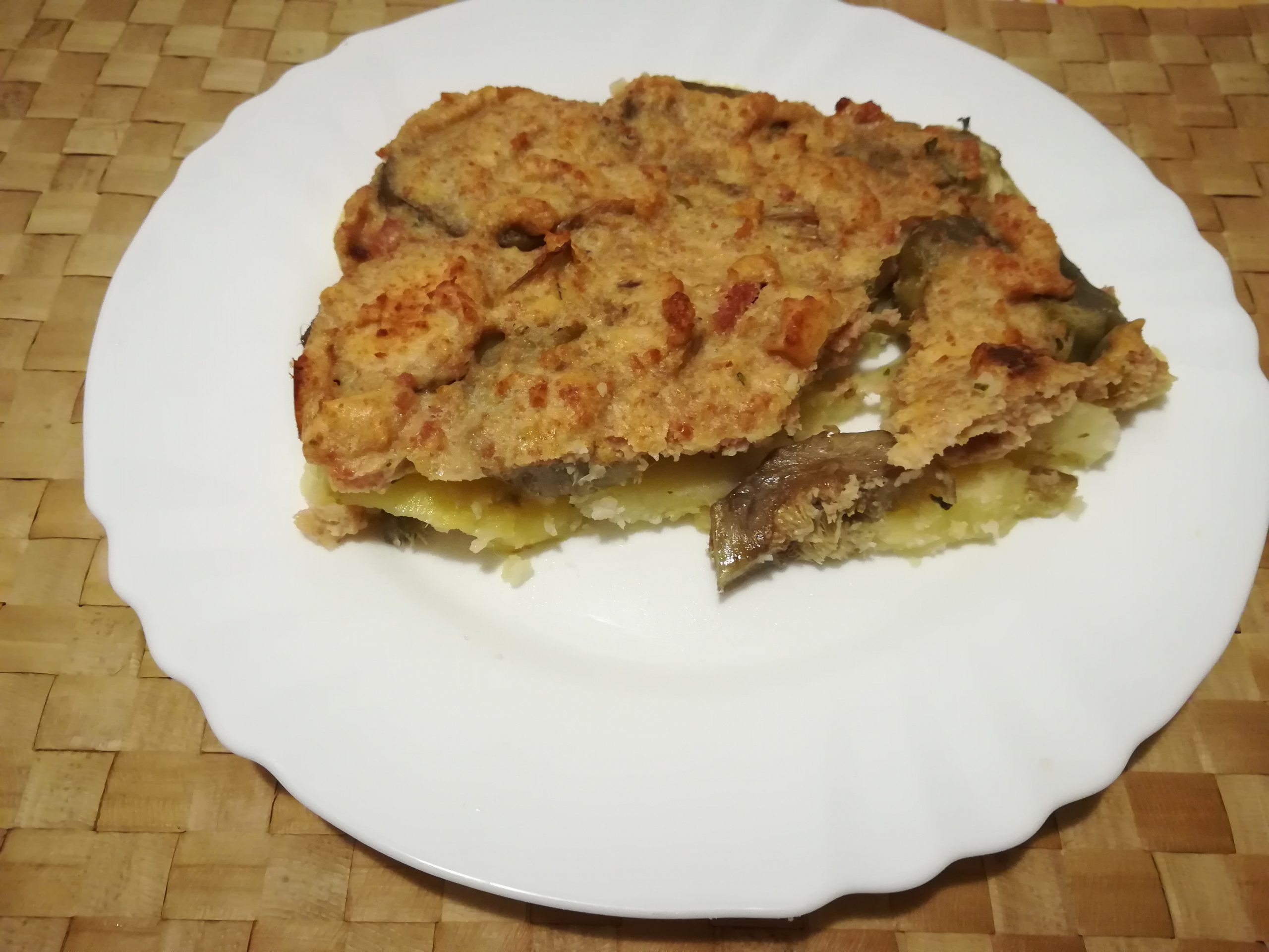 Tortino saporito di patate e carciofi