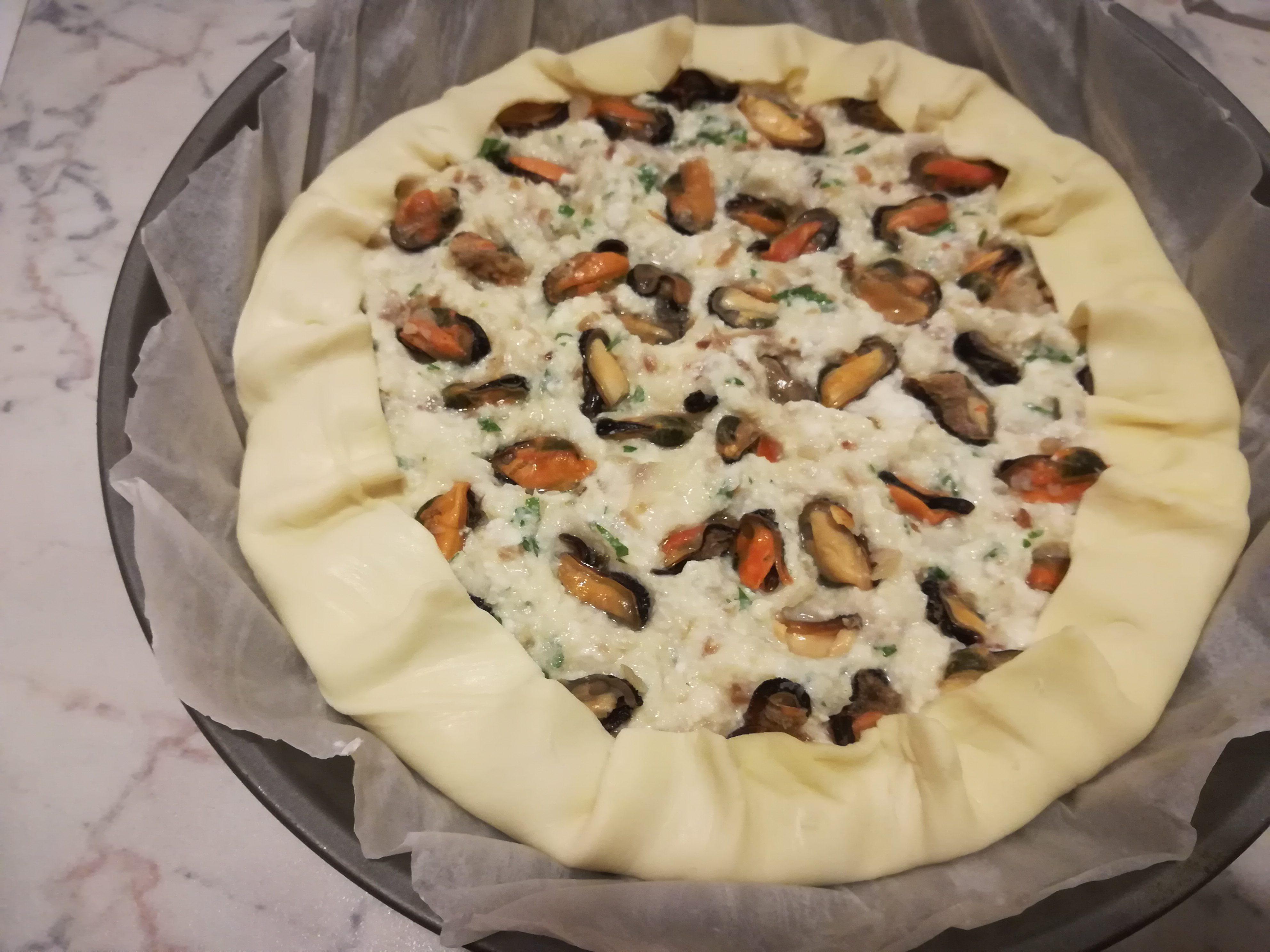 Torta salata di pesce