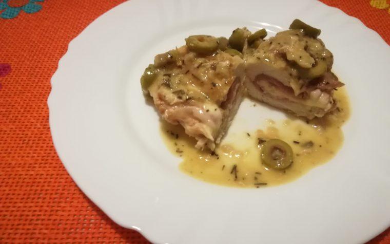 Involtini di petto di pollo alle olive