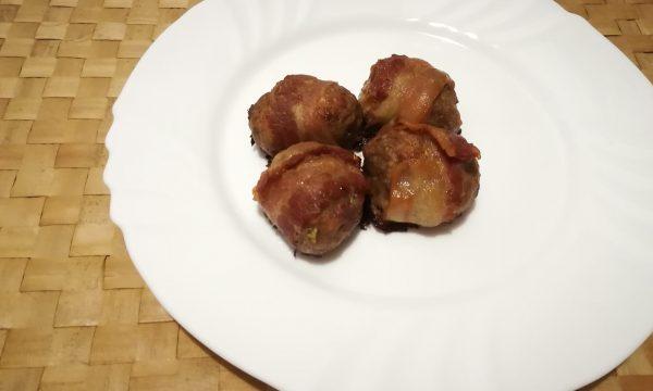 Polpette di carne alla pancetta