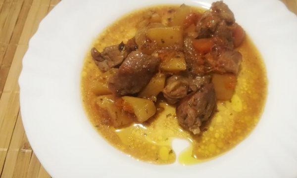 Spezzatino di carne con patate e zucca