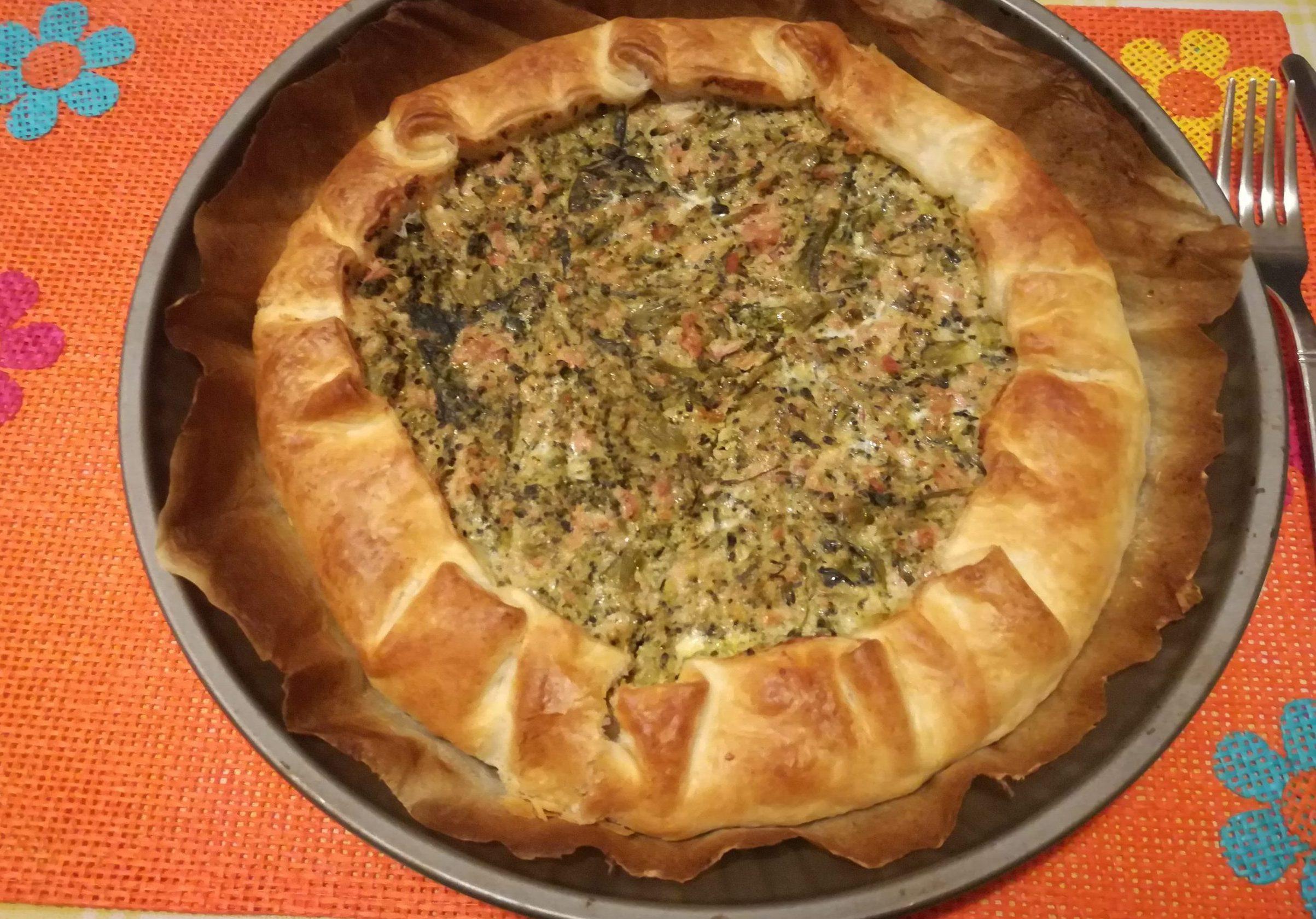 Crostata salata con tonno e broccoletti