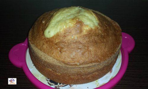 Sponge cake with vanilla