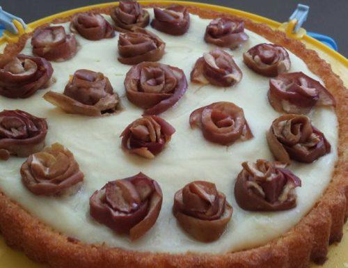 Torta alla crema pasticcera e mele