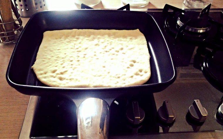 Pizza alla piastra
