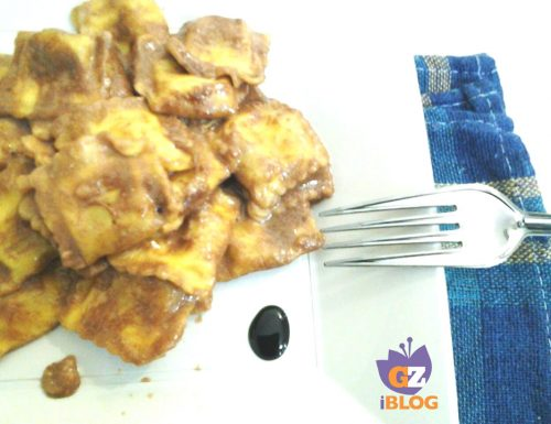 Ravioli in crema di aceto balsamico