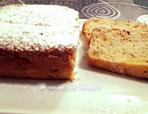 Plumcake panna,mele e nocciole