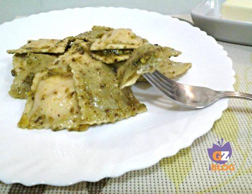 Ravioli ricotta e pistacchio