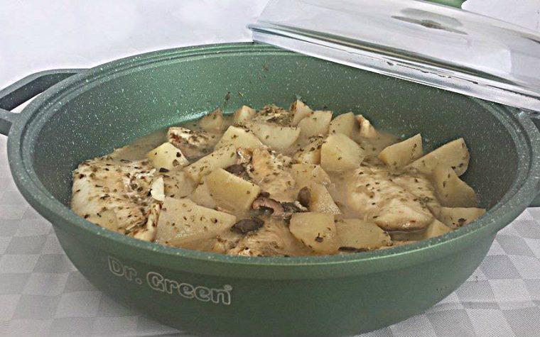 Filetti di persico in Umido con Patate