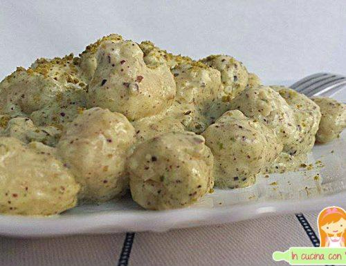 Gnocchi di amaranto al pistacchio