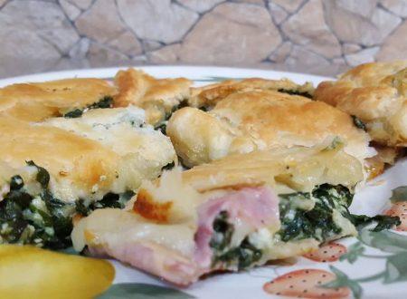 Pasta sfoglia ricotta, spinaci e prosciutto