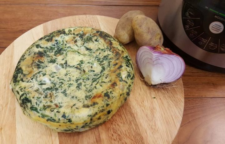 Frittata spinaci e patate con pentola Ollas Gm