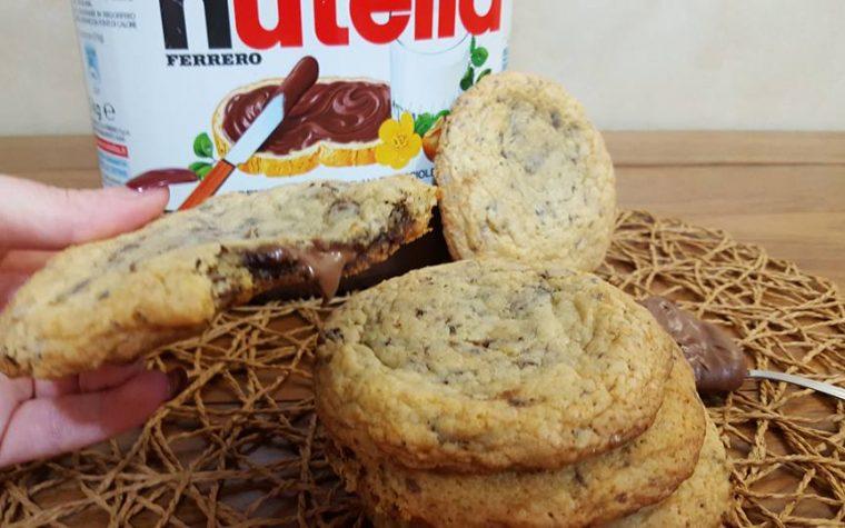 Cookies con cuore alla  nutella