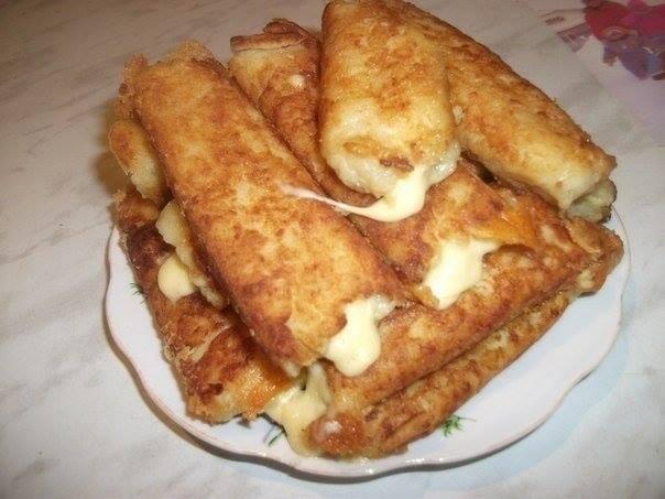 Bastoncini di patate con formaggio