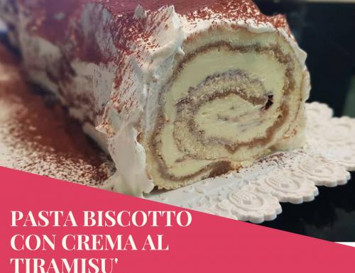 PASTA BISCOTTO CON CREMA AL TIRAMISU' BIMBY