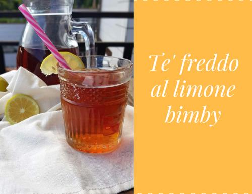 TE' FREDDO AL LIMONE BIMBY
