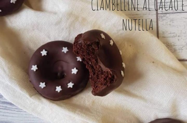 CIAMBELLINE AL CACAO E NUTELLA CON IL BIMBY