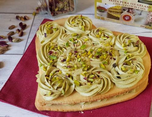 TORTA BISCOTTO CREAM TART AL PISTACCHIO