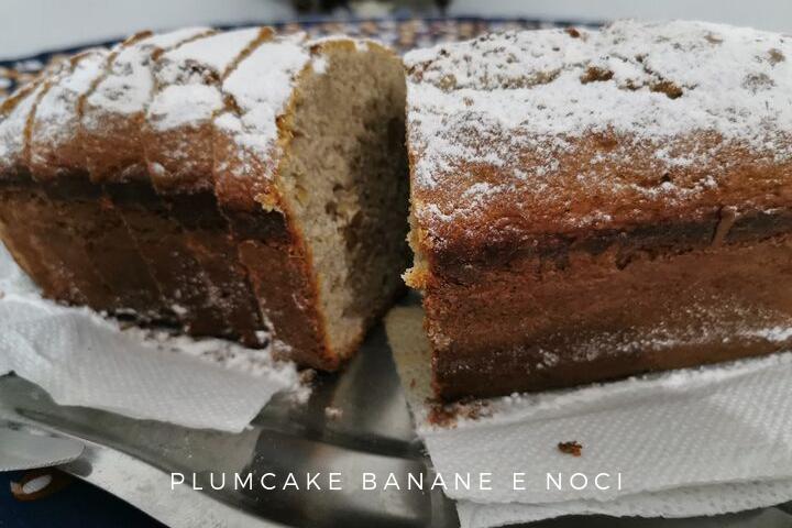 PLUMCAKE BANANE E NOCI RICETTA BIMBY