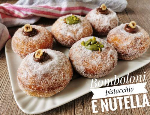 BOMBOLONI NUTELLA E PISTACCHIO BIMBY