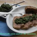Arrosto con salsa di cicoria