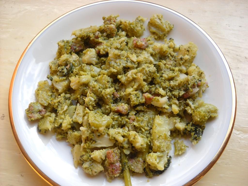 broccoli con salsiccia