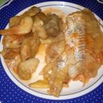 Filetti di merluzzo con carciofi
