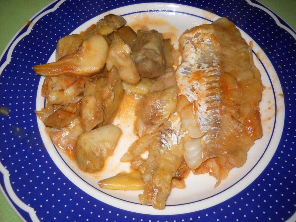 filetti di merluzzo con carciofi-002
