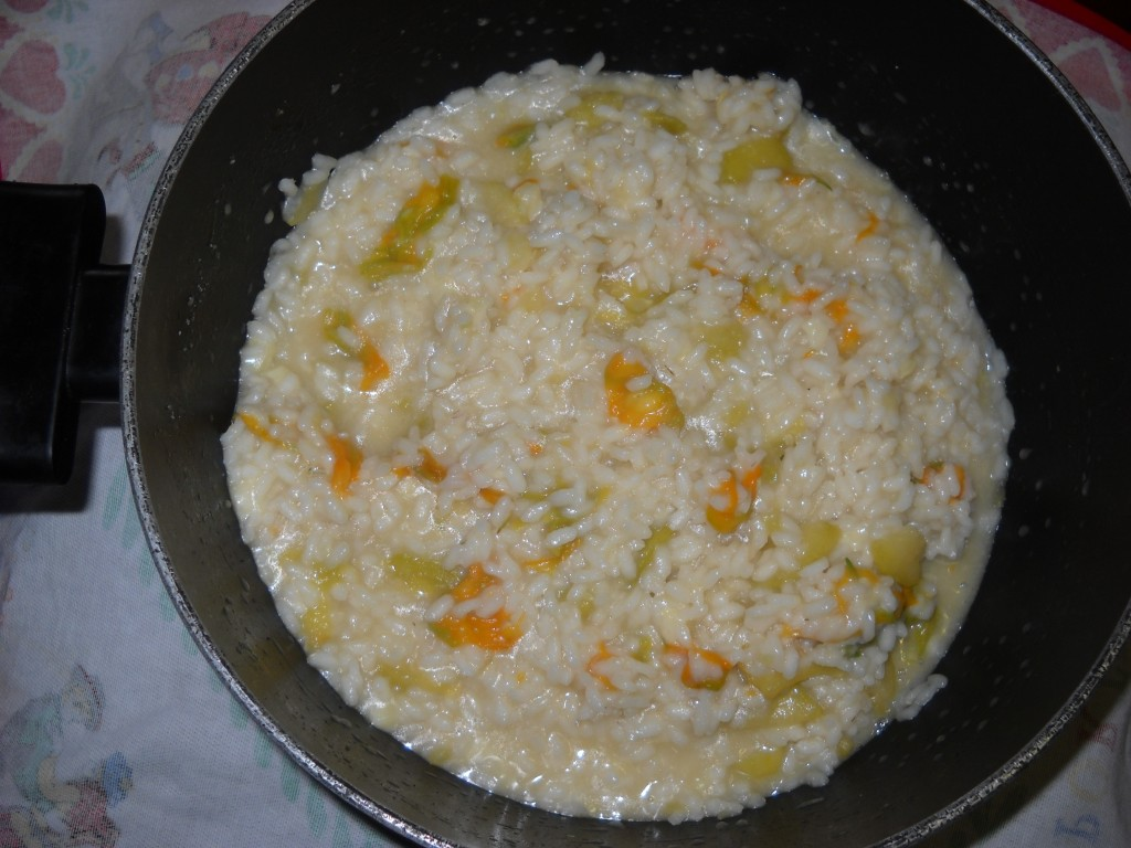 riso con zucchina e fiori