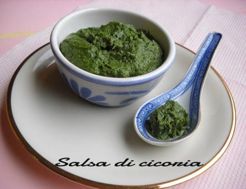 Salsa verde di cicoria campestre