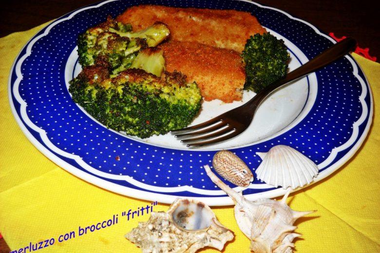 Filetti di merluzzo con broccoletti fritti
