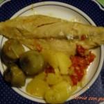 Cernia con carciofini e patate.Mare in tavola.