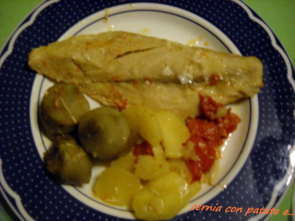 Cernia con carciofini e patate