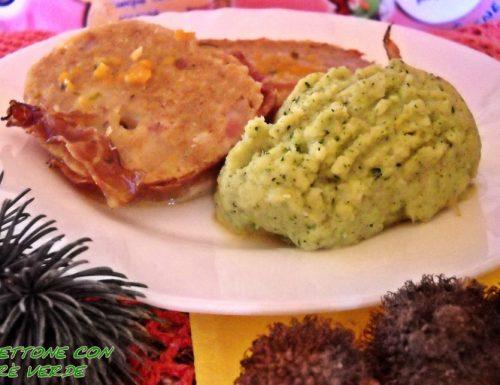 Polpettone a modo mio con purè verde – 2 ricette