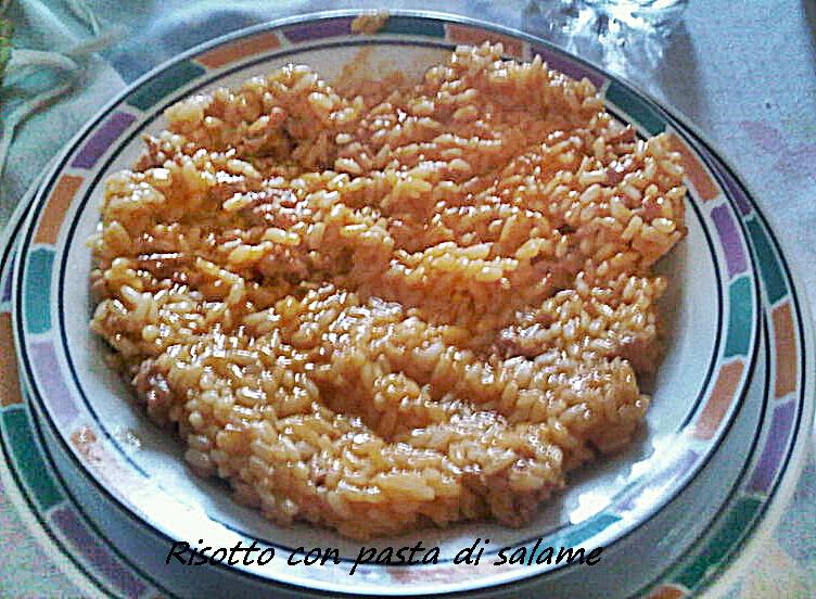 risotto con pasta di salame