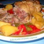 Rollè di pollo con patate e peperoni