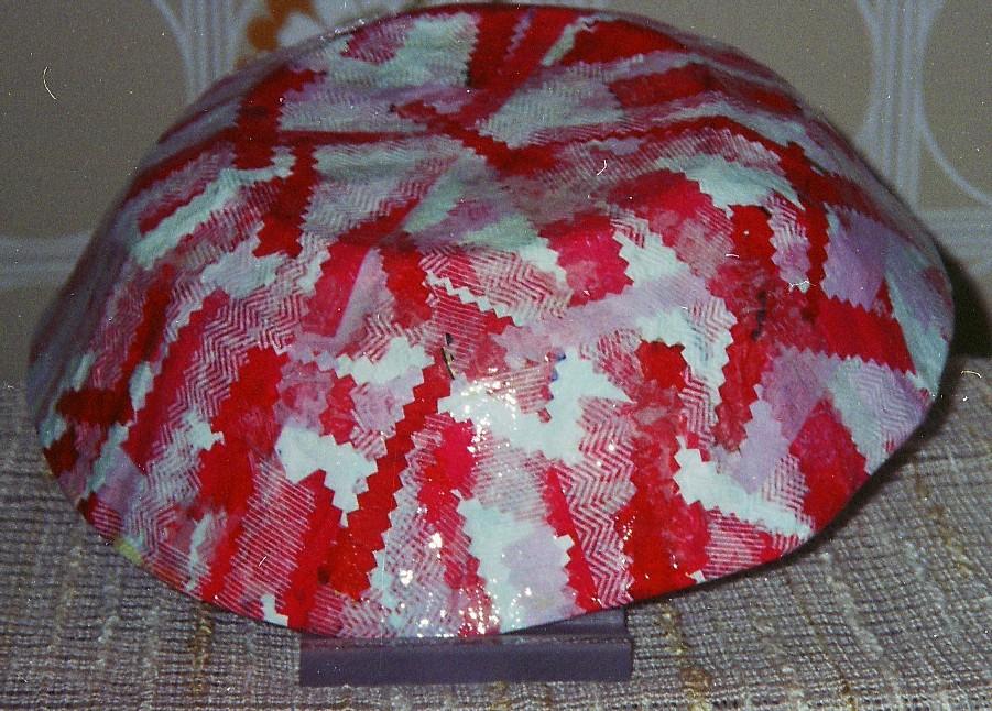 ciotola bianca/rossa – metodo carta velina