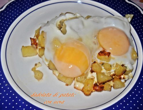 Dadolata di patate con uova