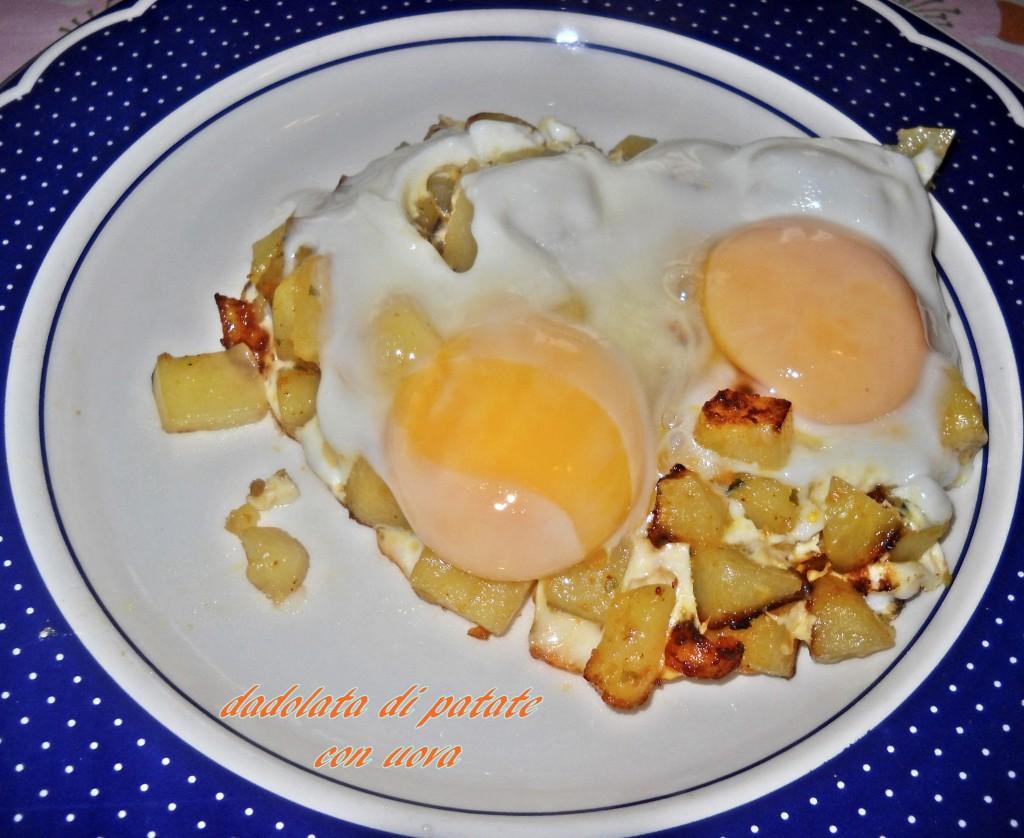 Dadolata di patate con uova-1