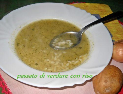 Passato di verdura con riso